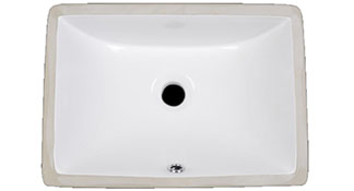 1813 White Ceramic Under-mount Vanity Sink