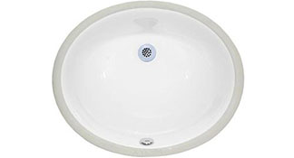 210 white cermanic undermount vanity sink